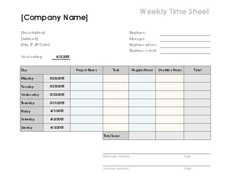 overtime log template weekly time sheet with tasks and overtime