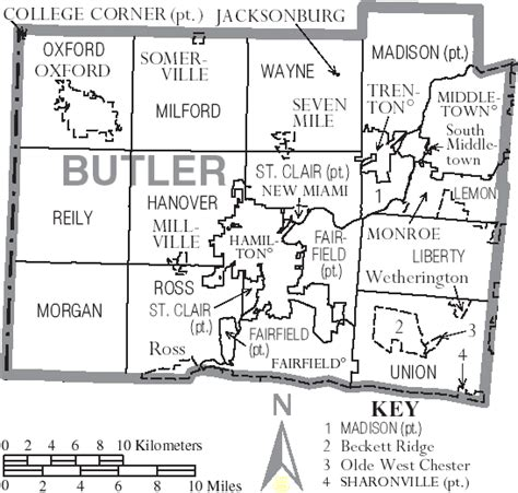 butler county ohio genealogy records deeds courts