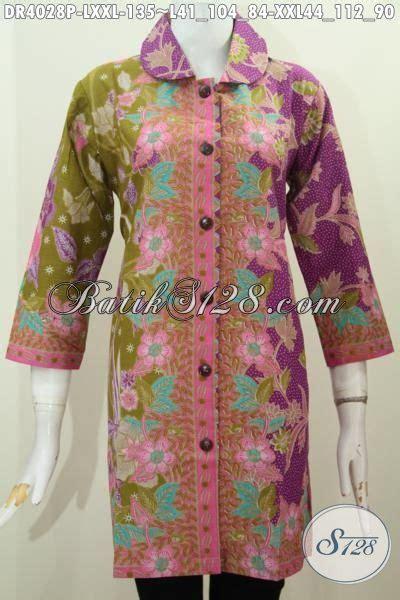 desain baju batik seragam seragam kerja batik wanita karir baju batik modern kerah