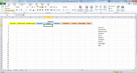 excel spreadsheet for monthly expenses laobingkaisuo com