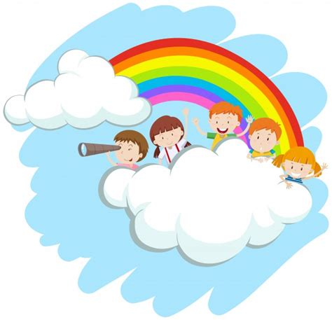 libro rainbow children the art happy children over the rainbow illustration vector free download