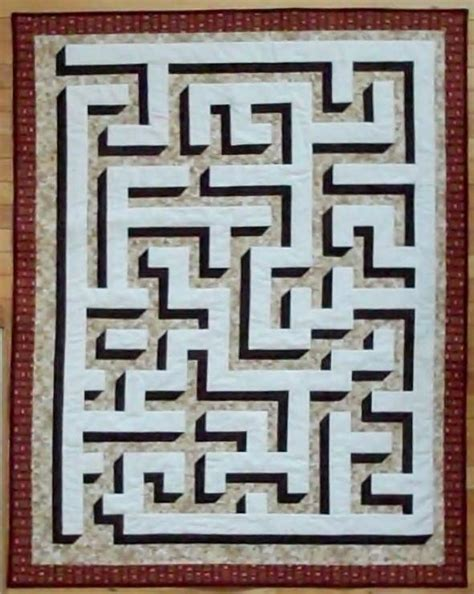 Maze Quilt Pattern 3d quilt maze by homemother craftsy