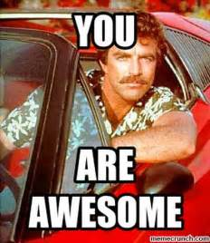 You Re Awesome Meme - magnum pi thinks you re awesome