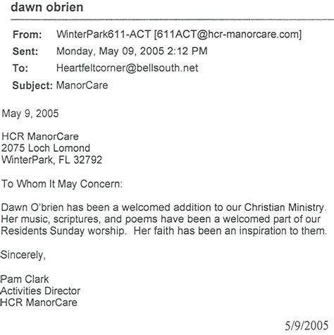 Donation Letter For Nursing Home S Heartfelt Corner Recommendation Letters