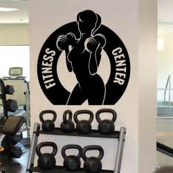 home gym wall decor gym athletic wall decal female fitness sport vinyl sticker