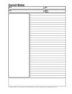 cornell note taking template word 8 best images of printable note taking template pdf