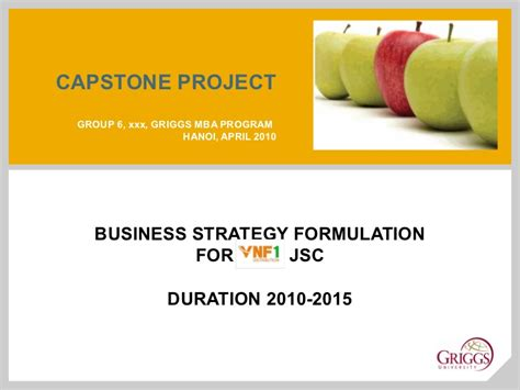 Mba Capstone Ideas by Mba Capstone Presentation