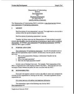sample memorandum of understanding mou summer matters