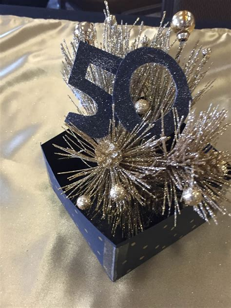 50th birthday party centerpieces for tables the dabbling crafter black gold 50th birthday surprise