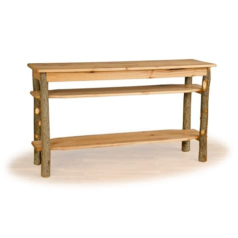 Tv Sofa Table by Rustic Hickory And Oak