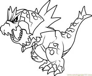 tyrantrum pokemon coloring free pok 233 mon coloring pages coloringpages101