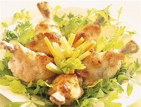 cuisiner le coq manchons de poulet accompagn 233 s de crudit 233 s recette
