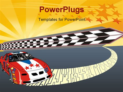 motorsport templates powerpoint template fast racing car illustration with