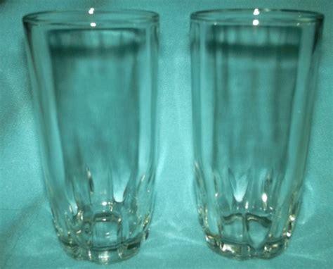 Crisa Beverage Set vintage crisa libbey small juice glass set of 2 clear beverage