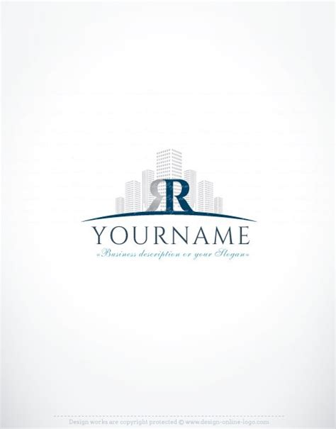 real estate logo templates initials real estate logo free business card