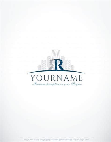 free logo design real estate online initials real estate logo free business card