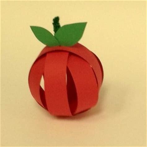 Paper Apple Crafts - paper apple craft