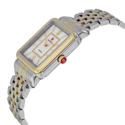 Michele MWW06X000017 Replica, Michele Deco II Mother of Pearl Two tone Ladies Watch MWW06X000017