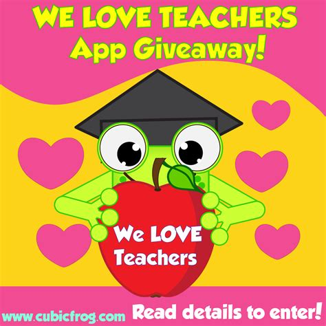 Free Giveaways For Teachers - free learning apps for teachers teacher appreciation cubic frog 174 apps