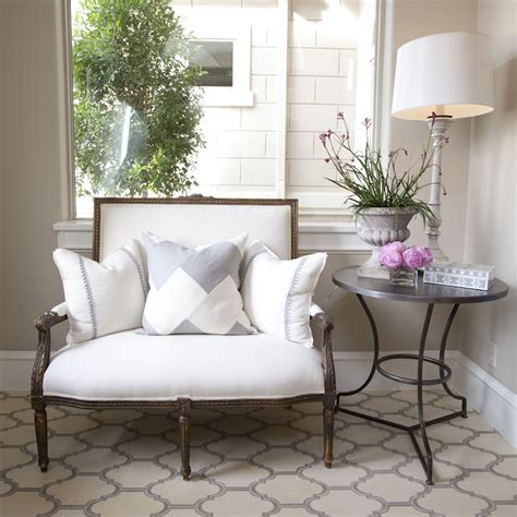 entryway settee french settee transitional entrance foyer dodson and