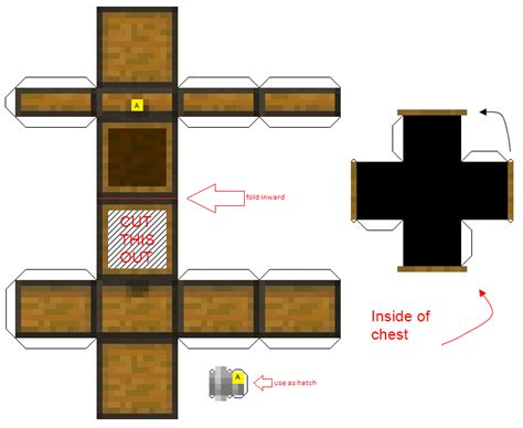 Where To Buy Minecraft Papercraft - minecraft opening chest cubee printables papercraft