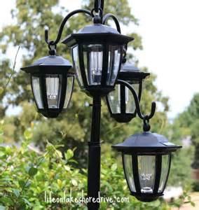 solar lights l posts outdoor hometalk easy diy solar lights l post with flower planter