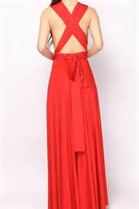 red long bridesmaid dress infinity dress lg 06 73 80 infinity dress convertible dress