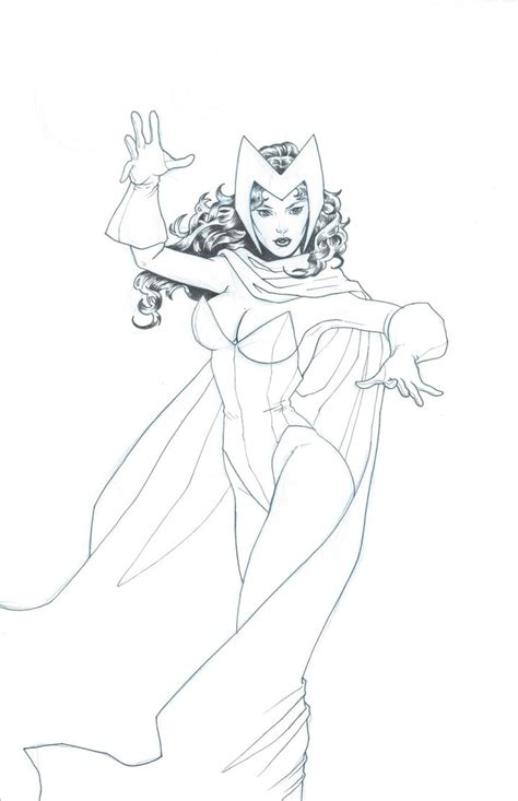 scarlet witch marvel coloring pages coloring pages