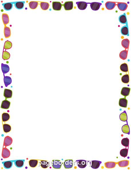May Borders Clipart by Glasses Border Clip Page Border And Vector Graphics