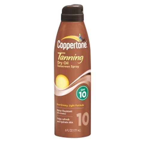 sunscreen in tanning bed coppertone tanning dry oil sunscreen spray spf 10
