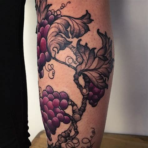 grape tattoo designs grapevine detail in progress mods