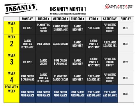 best 25 insanity workout schedule ideas on