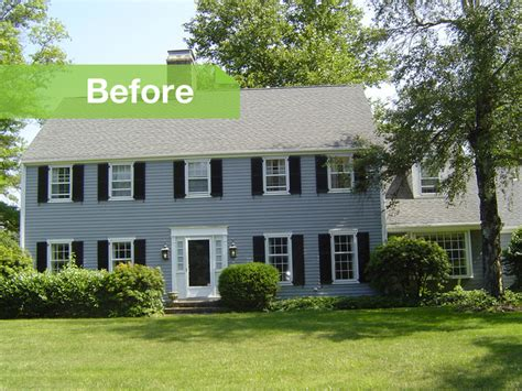 colonial home additions before and after colonial home