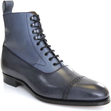 edward green boots edward green for hardy amies shannon brogue boots in blue