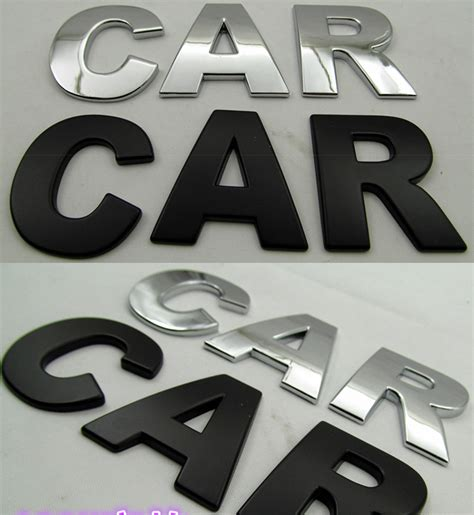 Stiker Chromo 5 X 45 Cm 1 pc diy chrome 3d self adhesive letter number 2 5cm car