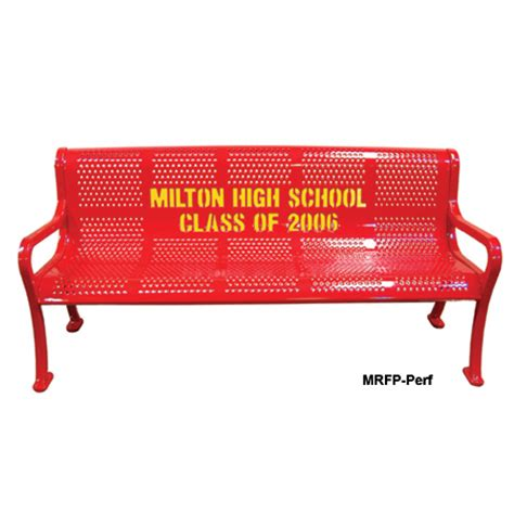 leisure craft benches leisure craft inc personalized multicolor perforated bench