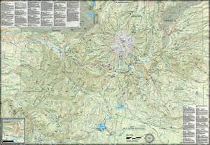 mt area hiking climbing map guide