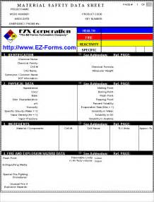 Msds Template Australia by Msds Ez Msds Material Safety Data Sheet Forms Processor