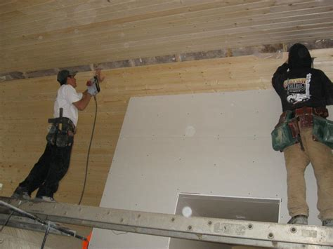 tongue groove ceiling installed in custom home out at