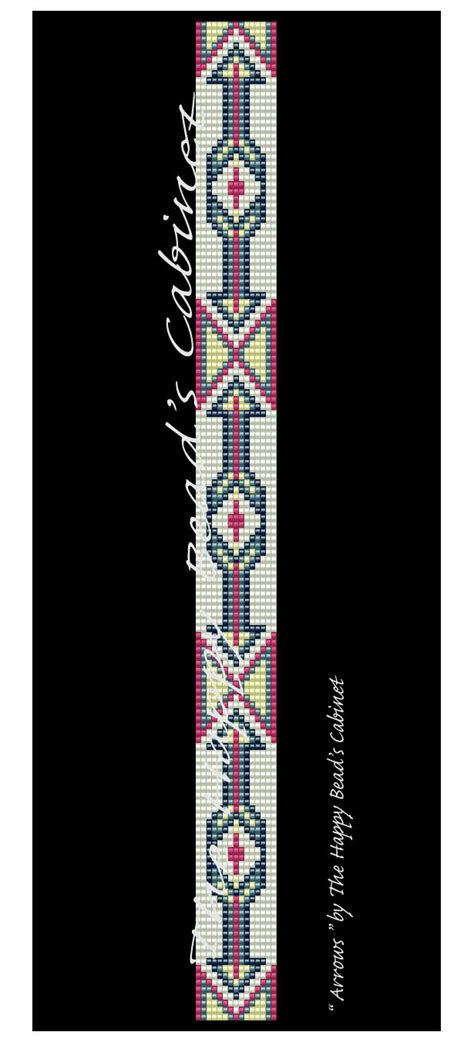 beaded bands beaded hat band band loom peyote pattern arrows
