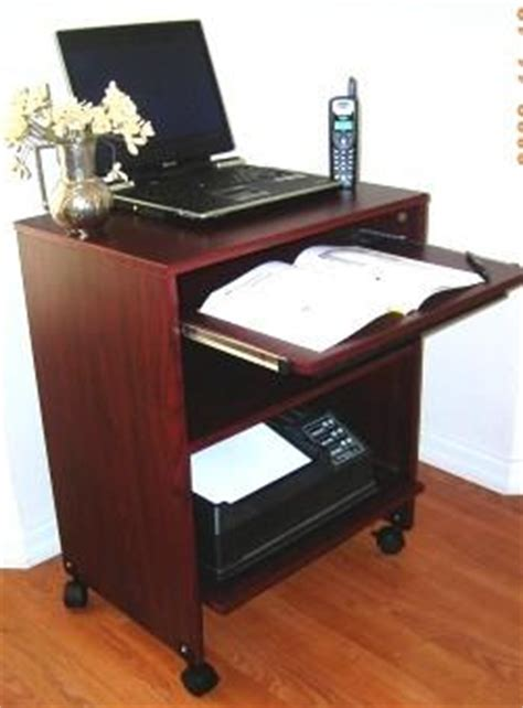 Small Laptop And Printer Desk S2326 23 Quot W Compact Computer Desk With Keyboard Shelf Mouse Tray Oceanpointe Distributors