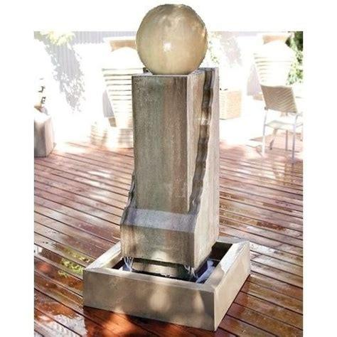 scallop monolith  ball outdoor fountain modern