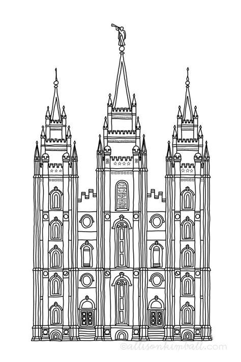 Salt Lake Temple Coloring Page 25 best ideas about salt lake temple on lds