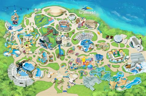 seaworld texas map seaworld map my