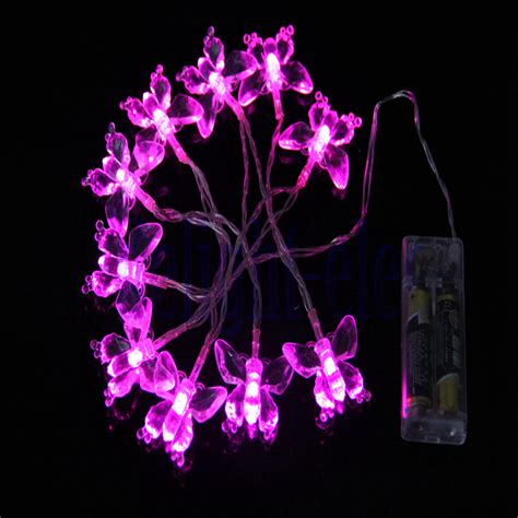 pink butterfly light battery powered pink butterfly light string 1 m 11