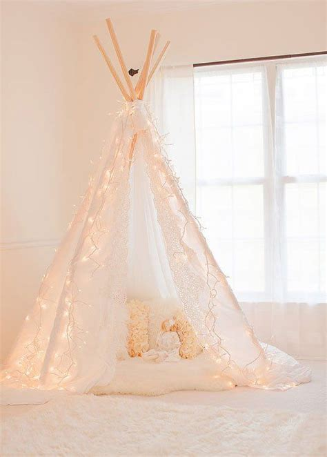 Teepee With Lights So Girly Cute Sewing Sensations Girly Lights