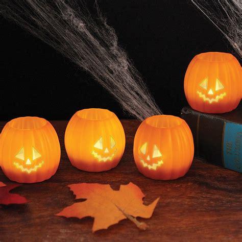 pumpkin lights o lantern tea lights set of 4 only