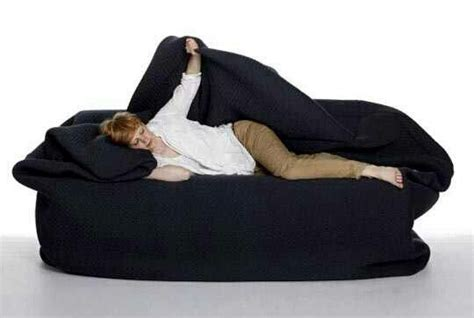 All In One Body Bean Bag Bed With Attached Pillow And