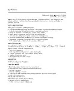 Apartment Porter Sle Resume by Porter Resume Template 6 Free Word Pdf Documents Free Premium Templates