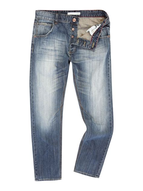 bench jeans for men bench casablancas straight fitted jeans in blue for men